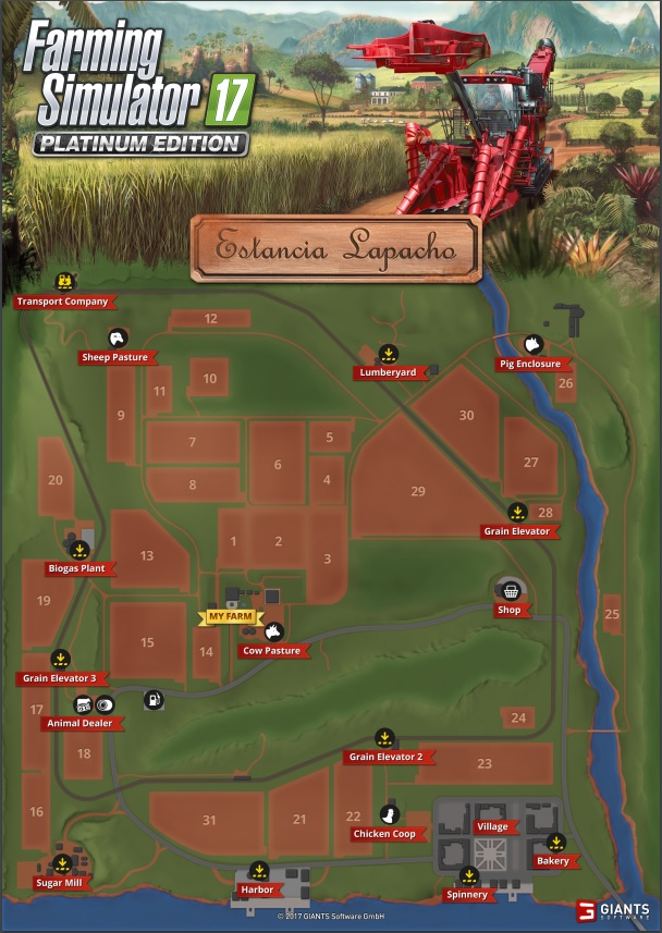 Farming Simulator 2017 Map Tour: Estancia Lapacho