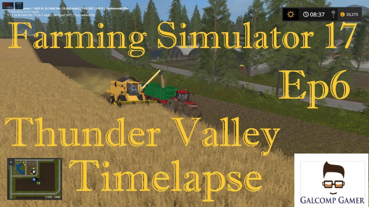 Farming Simulator 17 Timelapse : Thunder Valley harvest time Ep6